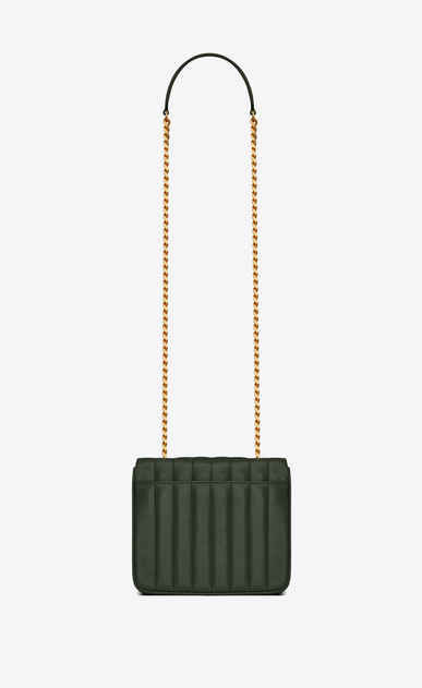 SAINT LAURENT Vicky Woman Medium Vicky chain bag in dark green leather b_V4
