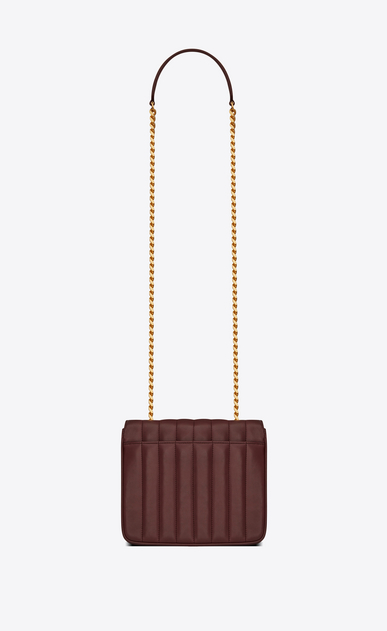 SAINT LAURENT Vicky Woman Medium Vicky chain bag in burgundy leather b_V4