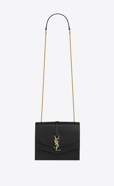 SAINT LAURENT Sulpice Woman Medium Sulpice chain bag in black leather a_V4