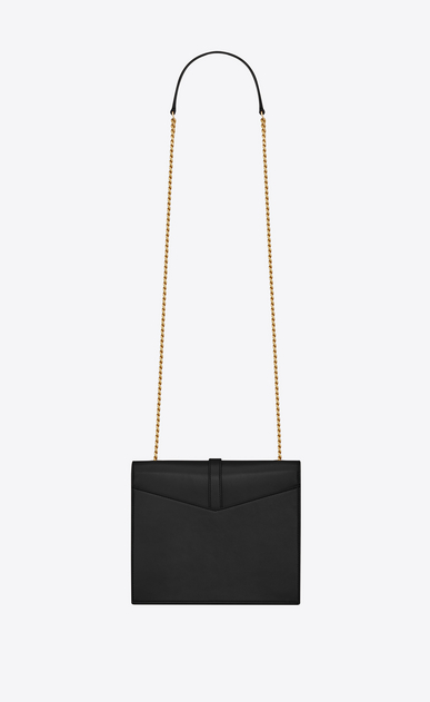 SAINT LAURENT Sulpice Woman Medium Sulpice chain bag in black leather b_V4