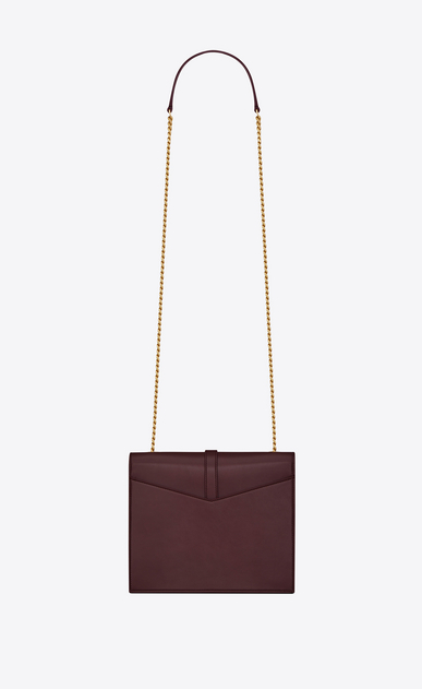 SAINT LAURENT Sulpice Woman Medium Sulpice chain bag in dark red leather b_V4