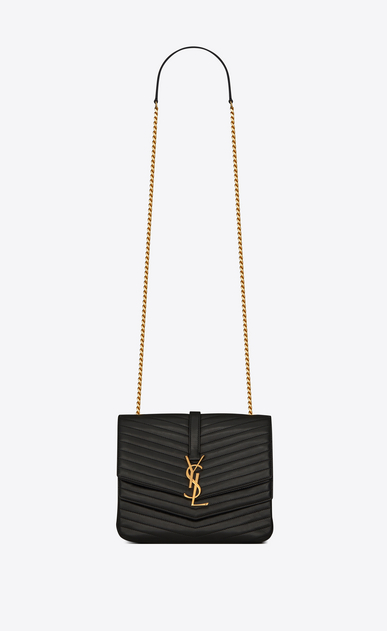 SAINT LAURENT Sulpice Woman Medium soft Sulpice chain bag in quilted black leather a_V4