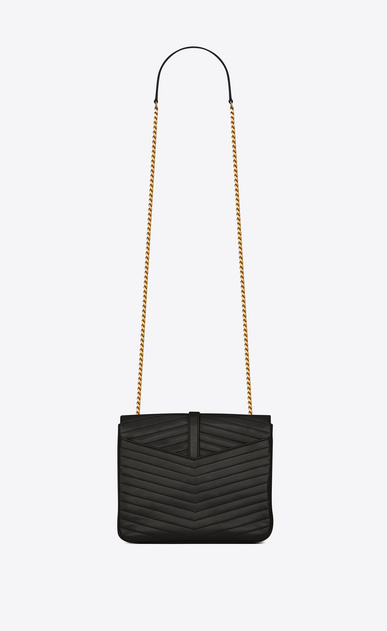 SAINT LAURENT Sulpice Woman Medium soft Sulpice chain bag in quilted black leather b_V4