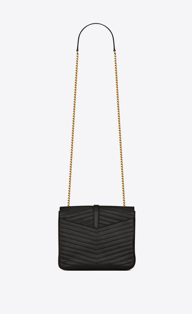 SAINT LAURENT Sulpice Damen Mittlere, weiche Sulpice Chain Bag aus schwarzem Leder mit Steppnähten b_V4