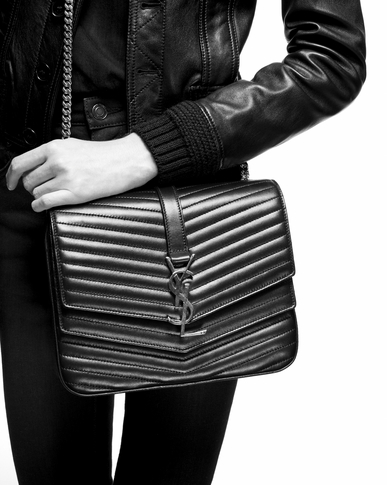 SAINT LAURENT Sulpice Woman Medium soft Sulpice chain bag in quilted black leather y_V4