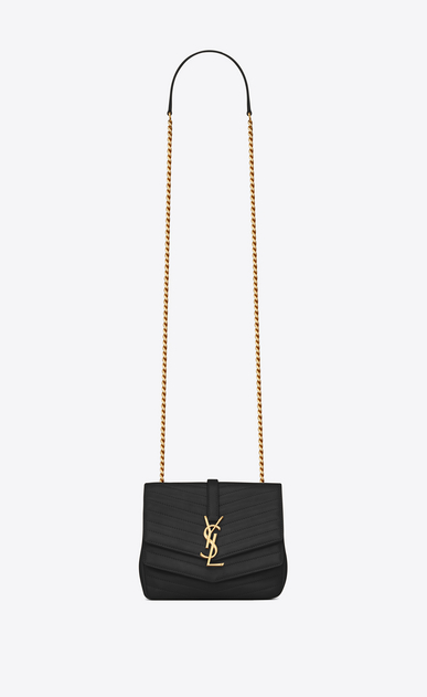SAINT LAURENT Sulpice Woman Small soft Sulpice chain bag in quilted black leather a_V4