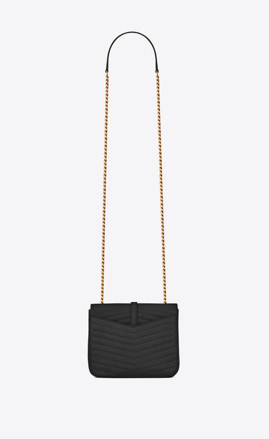 SAINT LAURENT Sulpice Damen Kleine, weiche Sulpice Chain Bag aus schwarzem Leder mit Steppnähten b_V4