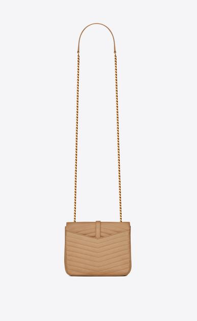 SAINT LAURENT Sulpice Damen Kleine, weiche Sulpice Chain Bag aus beigem Leder mit Steppnähten b_V4