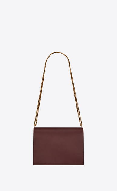 SAINT LAURENT Monogram chain bag Damen Cassandra chain bag in burgundy leather b_V4