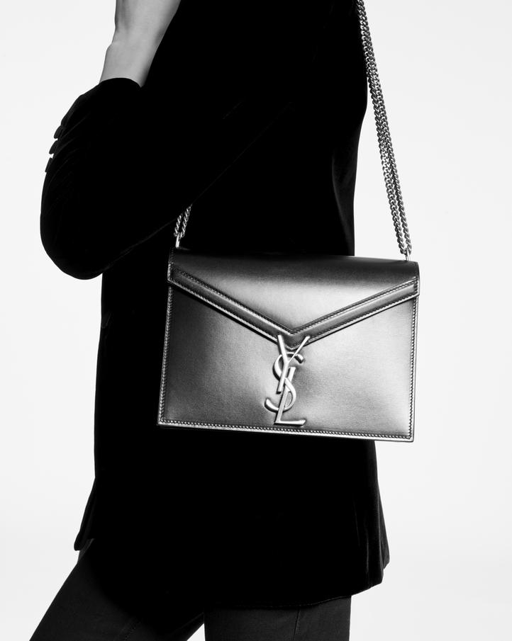 Saint Laurent Cassandra Monogram Clasp Bag In Smooth Leather ... fc9b45be19856