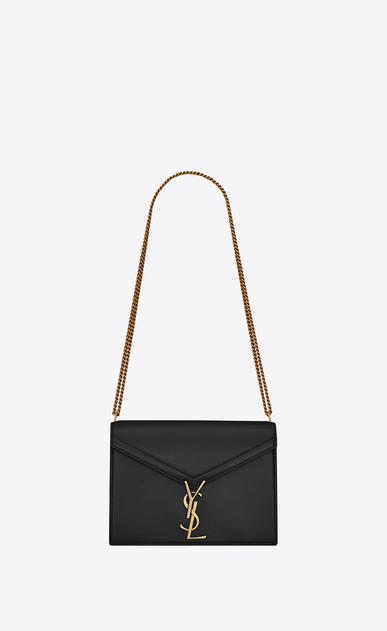 SAINT LAURENT Monogram chain bag Woman Cassandra chain bag in black leather a_V4