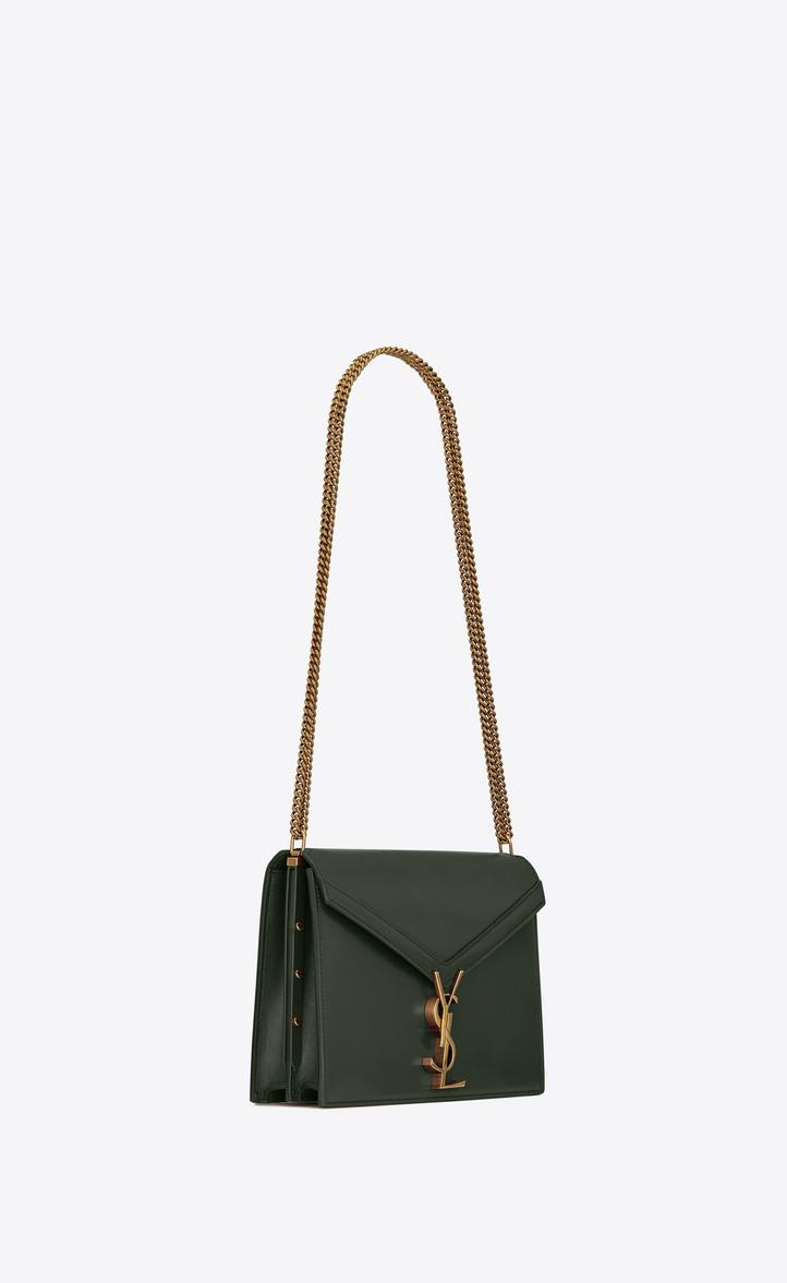 7f633d8b9 Saint Laurent Cassandra Monogram Clasp Bag In Smooth Leather ...