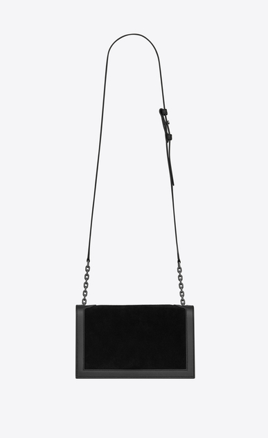 SAINT LAURENT Book bag Damen Book Bag Satcheltasche aus schwarzem Leder und Veloursleder  b_V4