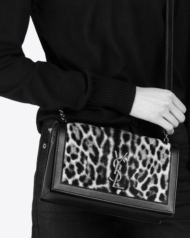 SAINT LAURENT Book bag Woman Ocelot-print Book bag - Online exclusive y_V4
