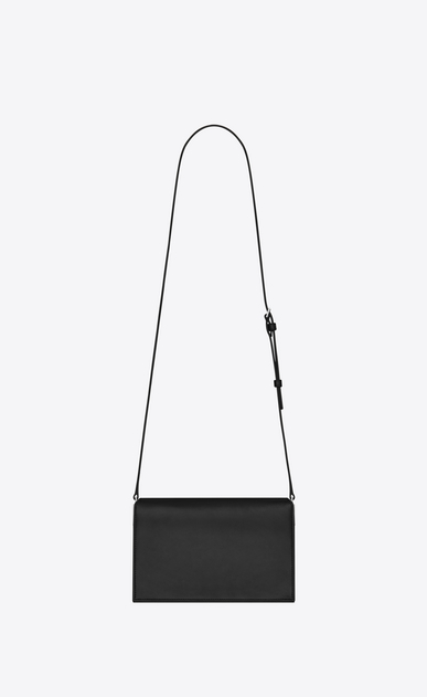 SAINT LAURENT Catherine Donna Satchel Catherine in pelle nera con microborchie e occhielli b_V4
