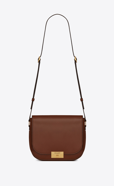 SAINT LAURENT Betty Woman Betty pouch bag in mocha leather a_V4