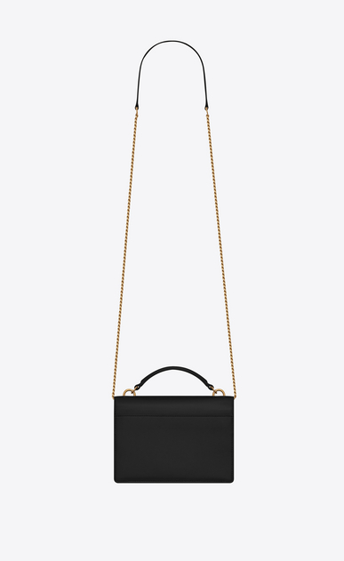 SAINT LAURENT Mini bags sunset Donna Portafogli Sunset con catena in pelle nera b_V4