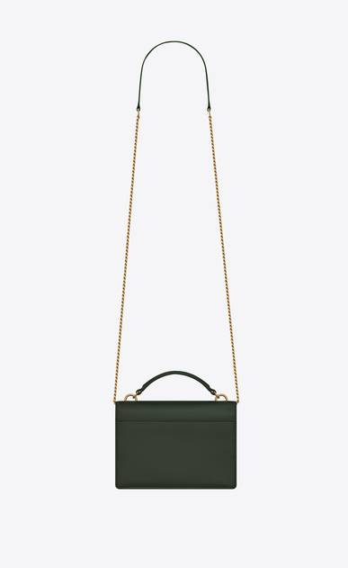 SAINT LAURENT Mini bags sunset Donna Portafogli Sunset con catena in pelle color verde scuro b_V4
