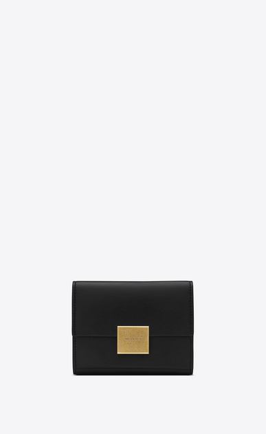 SAINT LAURENT Bellechasse SLG Woman Small Bellechasse wallet in black leather a_V4