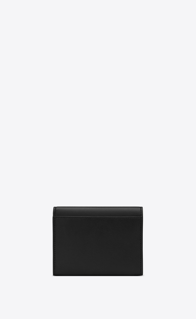 SAINT LAURENT Bellechasse SLG Woman Small Bellechasse wallet in black leather b_V4