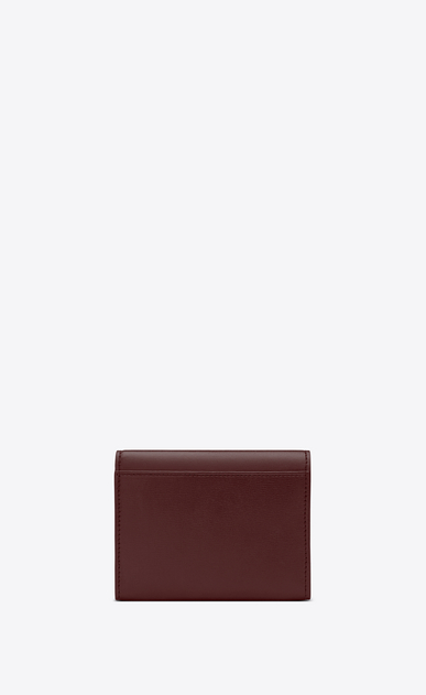 SAINT LAURENT Bellechasse SLG Woman Small Bellechasse envelope wallet in burgundy leather b_V4