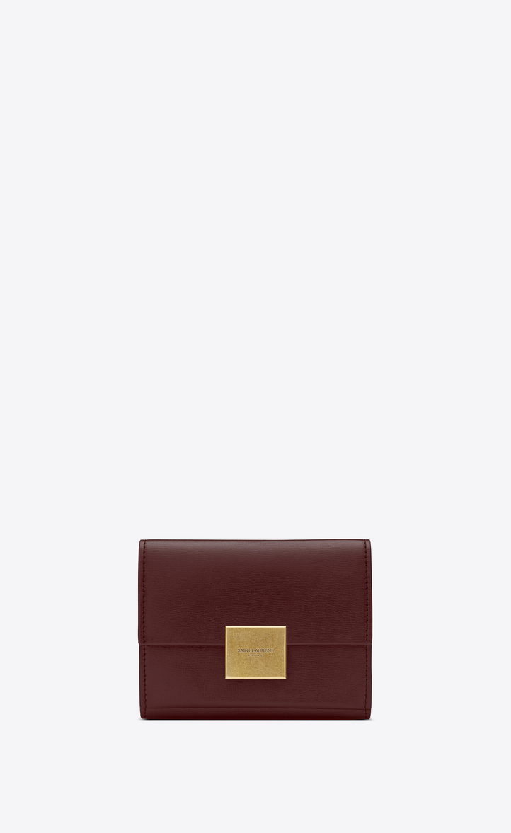 BELLECHASSE SMALL ENVELOPE WALLET IN SMOOTH LEATHER