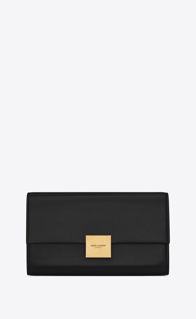 SAINT LAURENT Bellechasse SLG Woman Large Bellechasse wallet in black leather a_V4