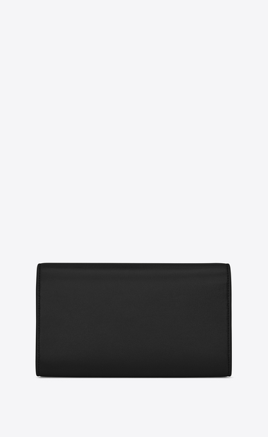 SAINT LAURENT Bellechasse SLG Femme Grand portefeuille BELLECHASSE en cuir noir b_V4