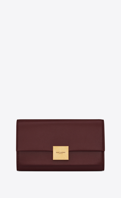 SAINT LAURENT Bellechasse SLG Woman Large Bellechasse wallet in dark red leather a_V4