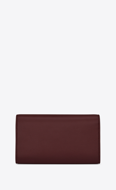 SAINT LAURENT Bellechasse SLG Woman Large Bellechasse wallet in dark red leather b_V4