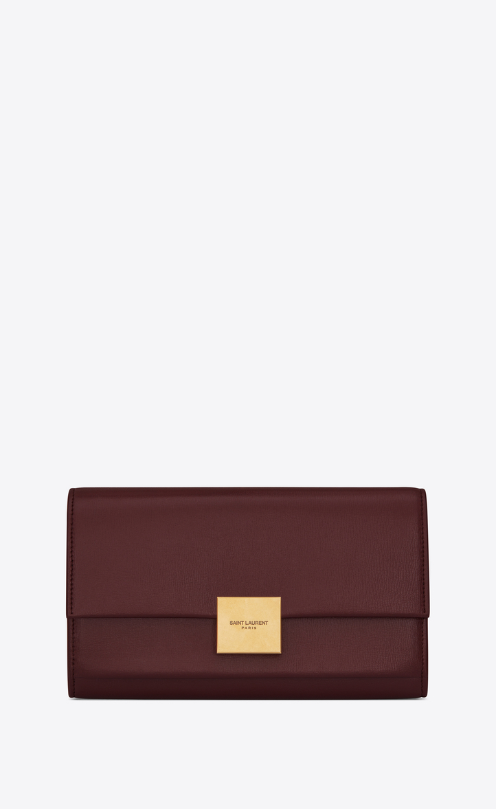 BELLECHASSE FLAP WALLET IN SMOOTH LEATHER