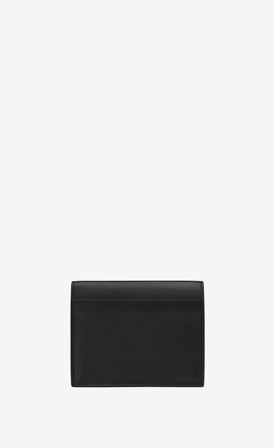 SAINT LAURENT Bellechasse SLG Woman Bellechasse business card holder in black leather b_V4