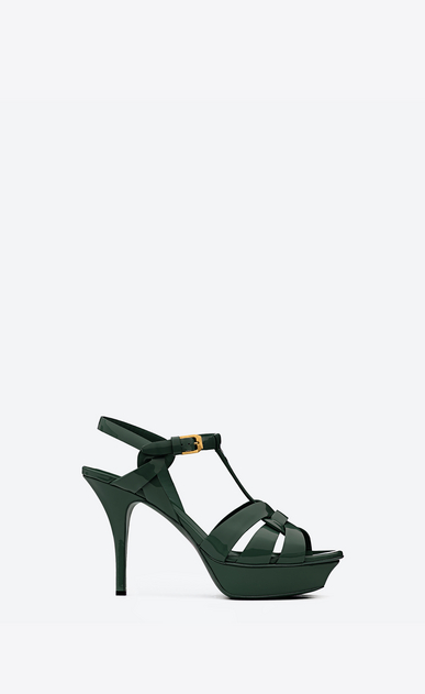 SAINT LAURENT Tribute Woman tribute sandal in patent leather a_V4
