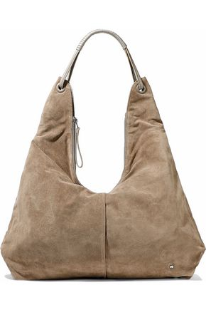 HALSTON HERITAGE Ali leather-trimmed suede tote
