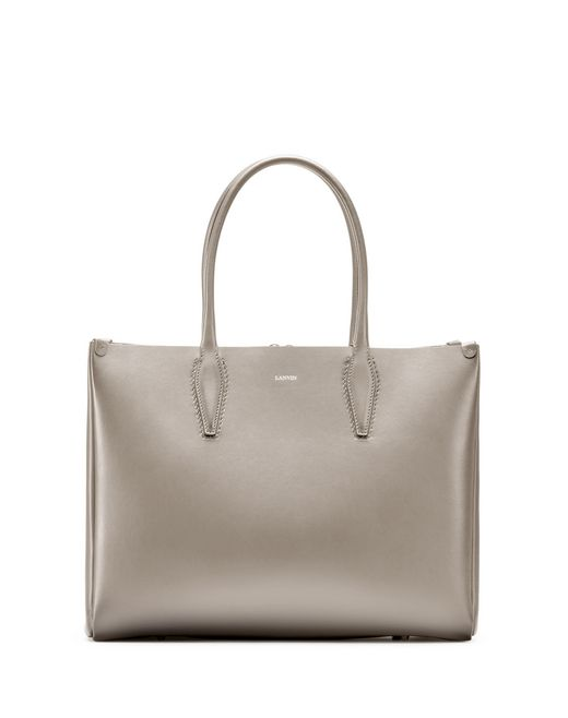 "MEDIUM PUTTY-COLORED ""JOURNÉE"" BAG - Lanvin"