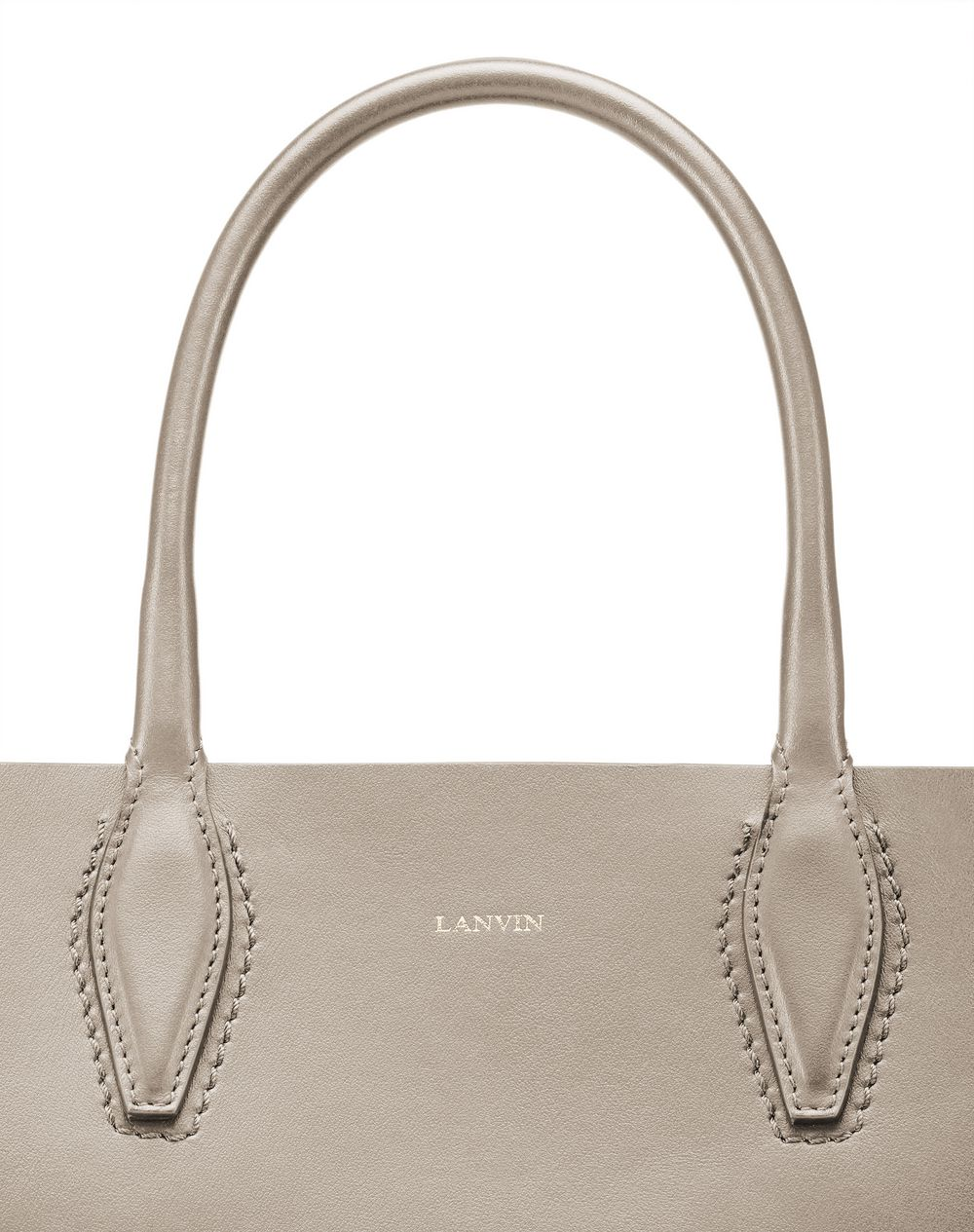 "MINI PUTTY-COLORED ""JOURNÉE"" BAG - Lanvin"
