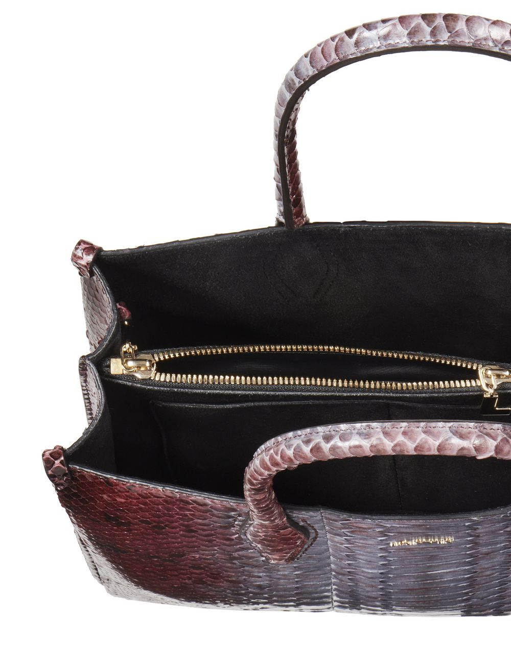 "MINI GARNET PYTHON LEATHER ""JOURNÉE"" BAG - Lanvin"