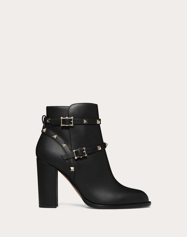 Valentino Garavani Rockstud calfskin leather ankle boot