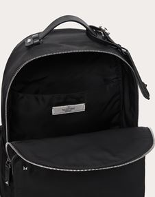 NYLON BACKPACK WITH VLTN RIBBON STRAPS