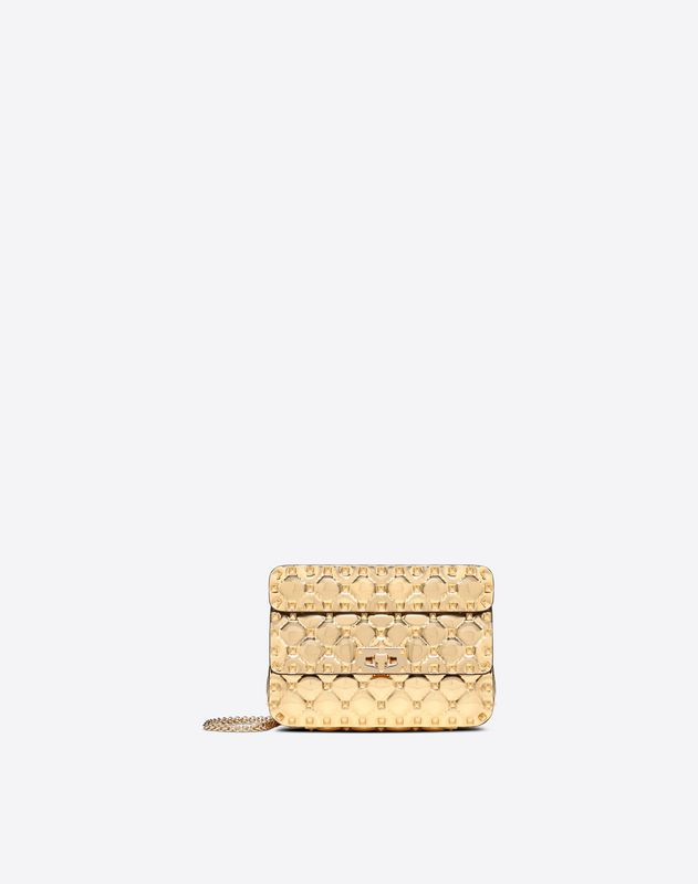 Small Metallic Rockstud Spike Bag