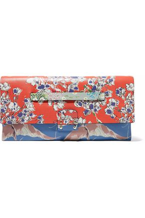 VALENTINO Mime printed leather clutch