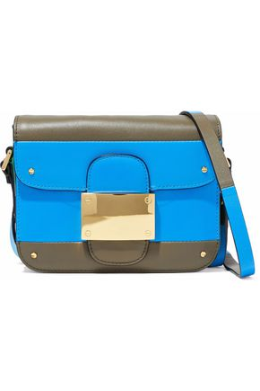 VALENTINO GARAVANI Rivet color-block leather shoulder bag