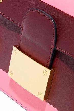 VALENTINO GARAVANI Rivet color-block leather shoulder bag