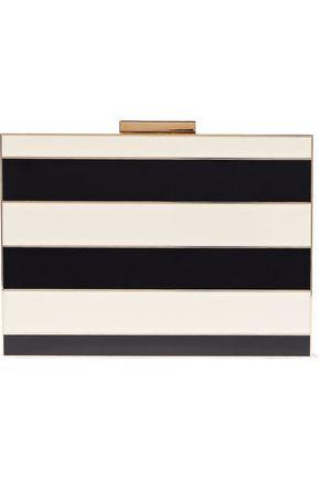 VALENTINO Striped acrylic box clutch