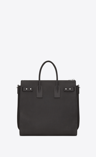 SAINT LAURENT Sac de Jour Men Homme Sac North/South SAC DE JOUR SOUPLE en cuir grainé gris STORM b_V4
