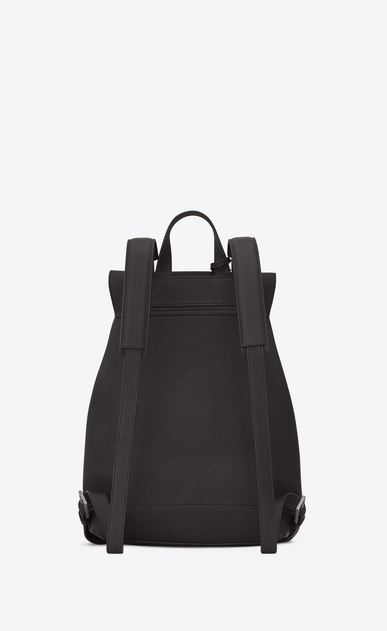 SAINT LAURENT Backpack Homme Sac à dos SAC DE JOUR SOUPLE en cuir grainé gris STORM b_V4
