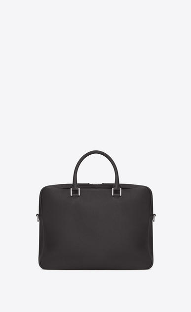 SAINT LAURENT Sac de Jour Men Homme Porte-documents SAC DE JOUR SOUPLE en cuir grainé gris STORM b_V4