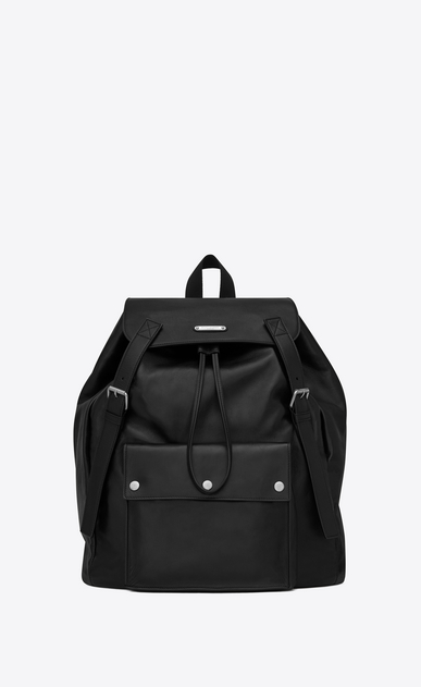SAINT LAURENT Noé luggages Uomo Noé Saint Laurent backpack in black leather a_V4