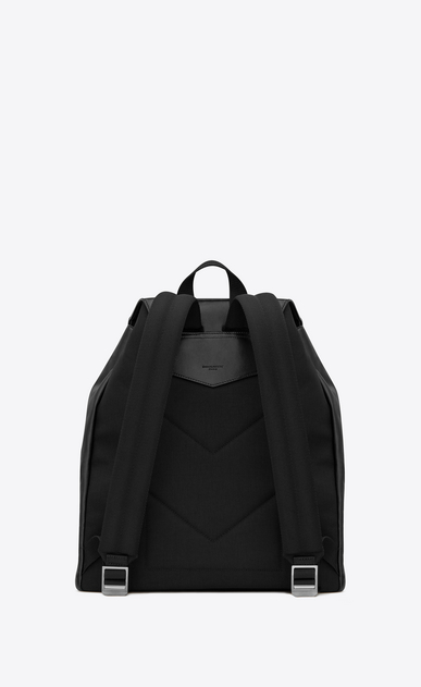 SAINT LAURENT Noé luggages Uomo Noé Saint Laurent backpack in black leather b_V4