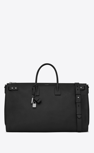 SAINT LAURENT Sac de Jour Men Man Sac de Jour Souple 72h duffle bag in black grained leather a_V4